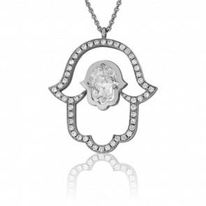 Collier Wadi Rum Or Blanc 18K & Diamants