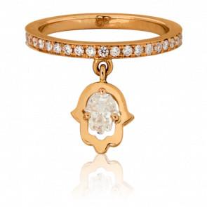 Bague Victoria Or Rose 18K & Diamants