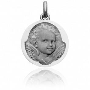 Médaille Ange Espiègle Or Blanc 18K