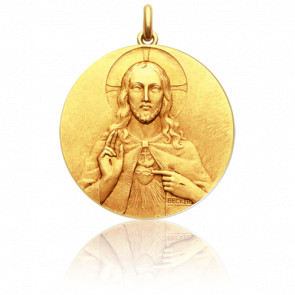 Médaille Christ et Vierge Scapulaire Or Jaune 18K