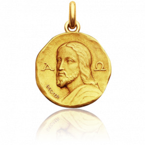 Médaille Christ Catacombes Or Jaune 18K