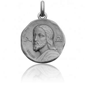 Médaille Christ Catacombes Or Blanc 18K - Becker