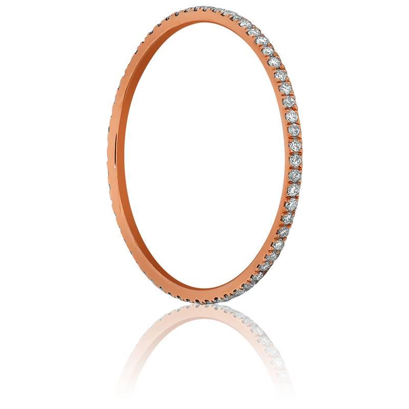 Alliance Infini or rose 18K & diamants