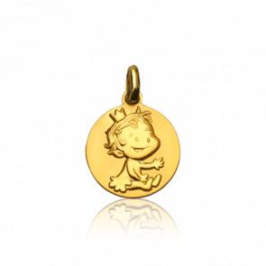Médaille Curieuse Or Jaune 9K