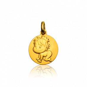 Médaille Blagueur Or Jaune 9K