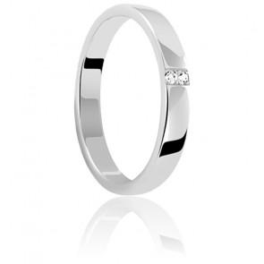 Alliance Céleste 3 mm Or Blanc et Diamants 0,02 ct