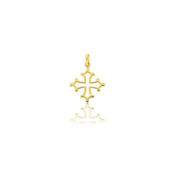 Croix Occitane Ajourée fil massif Or Jaune 18K