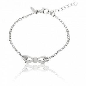 Bracelet Chaîne Mini Noeud Argent - Very Sisters