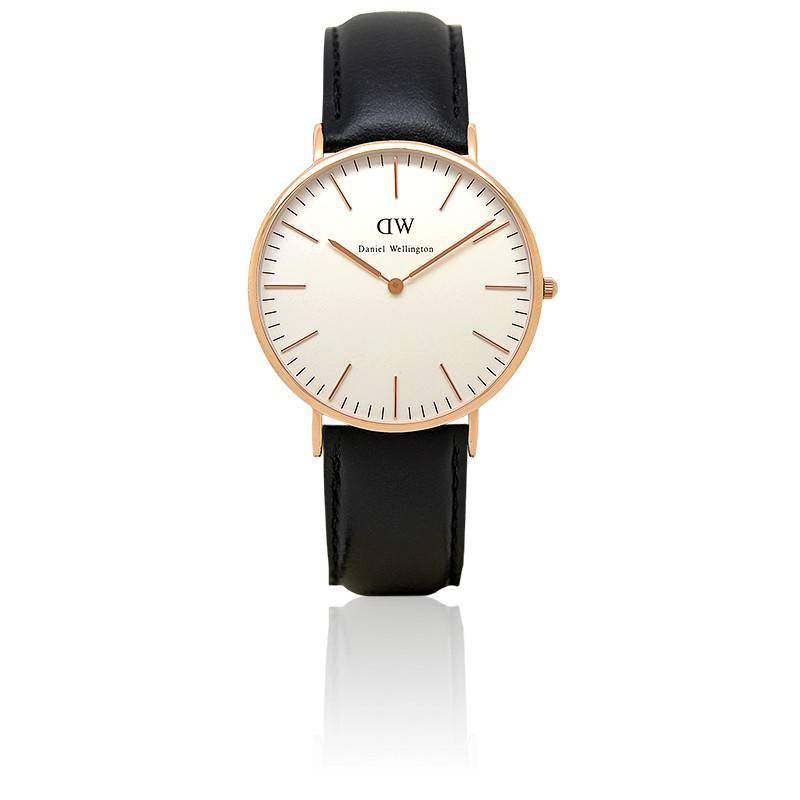 montre classic sheffield rose gold 40mm daniel wellington ocarat. Black Bedroom Furniture Sets. Home Design Ideas
