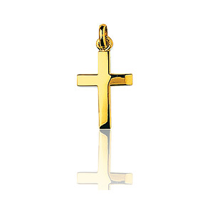 Croix polie 14 x 23 mm Or jaune 18 carats - Emanessence