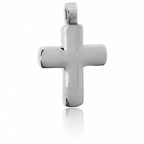 Croix Bombée en Or blanc 18K - Tournaire