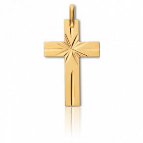 Croix Etoilée 15 x 24 mm Or Jaune