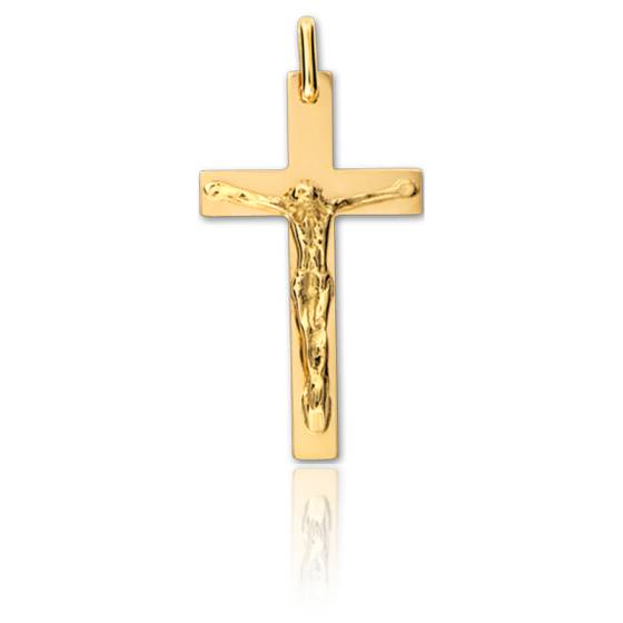 Christ en Croix 18 x 30 mm Or Jaune 9K