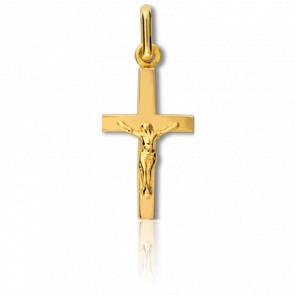 Christ en Croix bâton 10 x 18 mm Or Jaune 9K