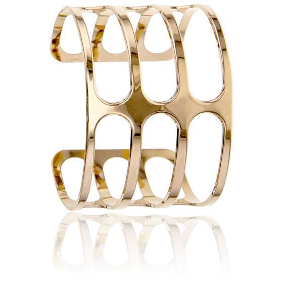 Bracelet Manchette Lilée Plaqué Or Jaune