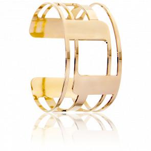 Bracelet Manchette Droséra Plaqué Or Jaune