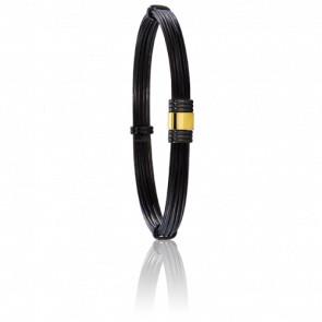 Bracelet 614N Poils Éléphant, Acier & Or Jaune 18K
