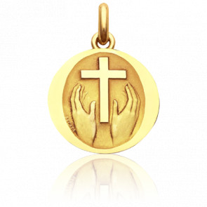Médaille Credo Deo Or Jaune 18K