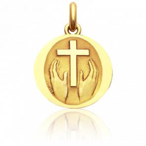 Médaille Credo Deo Or Jaune 18K - Becker