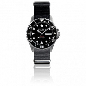 Diver Moby Dick 44 Bracelet Nato noir - Oxygen