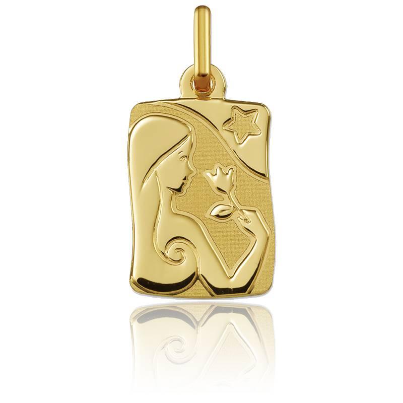 Pendentif signe du zodiaque vierge or jaune 18K