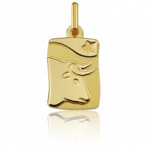 Pendentif signe du zodiaque taureau or jaune 18K