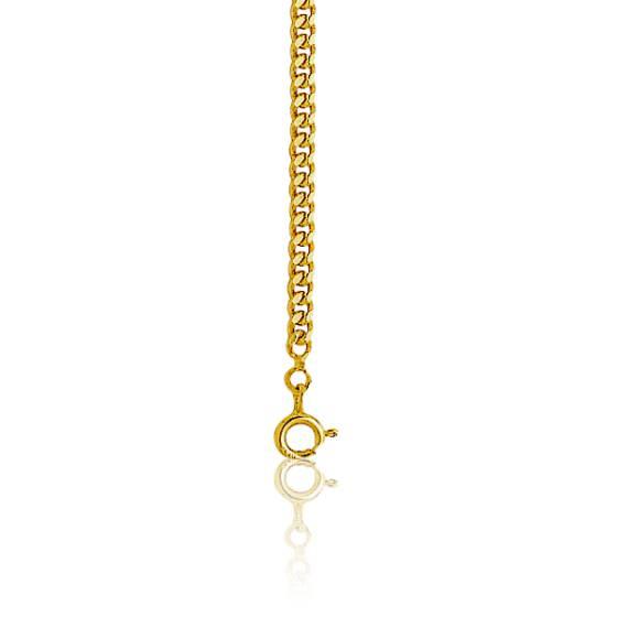 5bdeefead0e Bracelet Gourmette Or Jaune 18K longueur 21 cm - Manillon - Ocarat