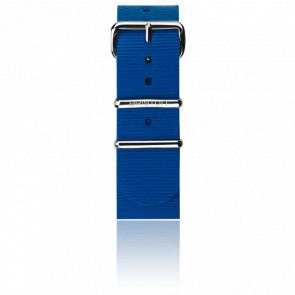 Bracelet Nato 20mm Bleu électrique, Longueur 245mm, boucle acier