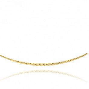 Collier en chute Maille Palmier Creuse, Or Jaune 18K, longueur 45 cm