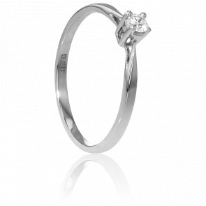 Bague Solitaire Paris Or Blanc & Diamant 0,08ct