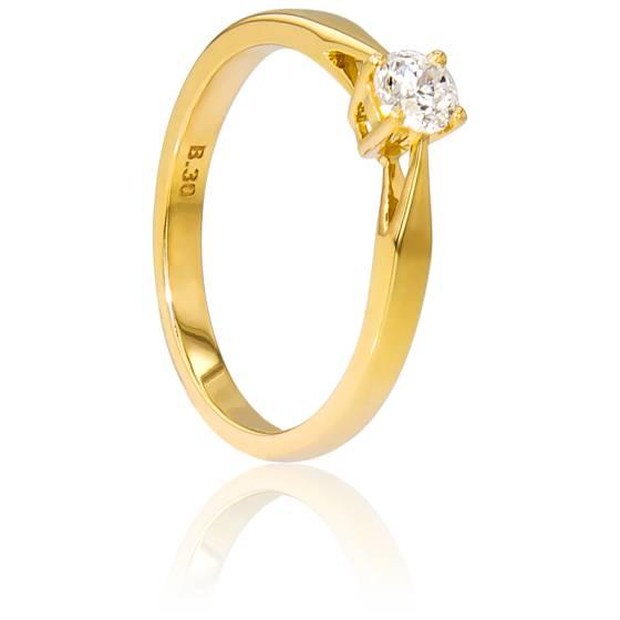 bague solitaire or jaune diamant pas cher