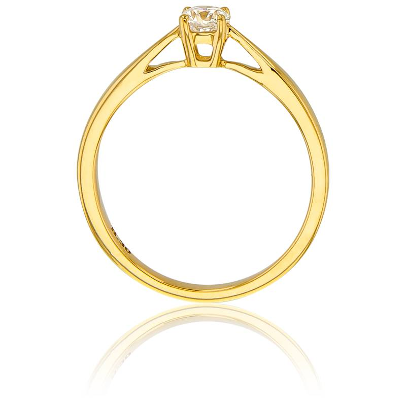 bague solitaire paris en or jaune 18k diamant 0 30 ct ocarat. Black Bedroom Furniture Sets. Home Design Ideas