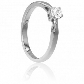 Bague Solitaire Paris Or Blanc & Diamant 0,30ct