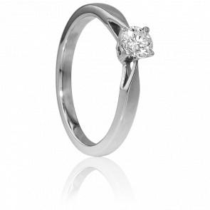 Bague Solitaire Paris Or Blanc & Diamant 0,35ct