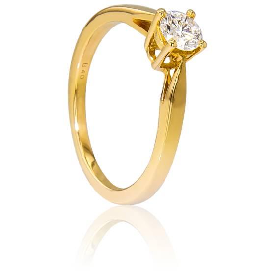 Bague Solitaire Paris Or Jaune & Diamant 0,40ct