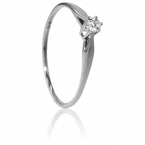 Bague Solitaire Venise Or Blanc & Diamant 0,10ct