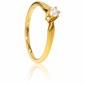 Bague Solitaire Venise Or Jaune & Diamant 0,14ct