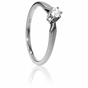 Bague Solitaire Venise Or Blanc & Diamant 0,14ct