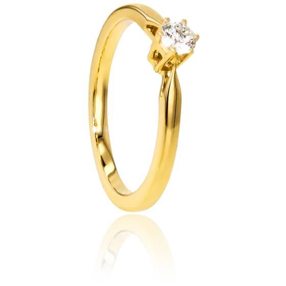 Bague Solitaire Venise Or Jaune & Diamant 0,18ct