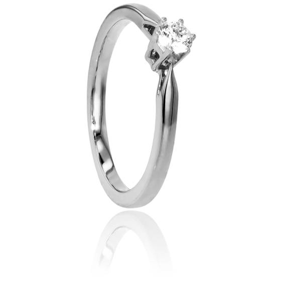 Bague Solitaire Venise Or Blanc & Diamant 0,18ct