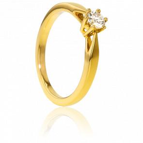 Bague Solitaire Venise Or Jaune & Diamant 0,23ct