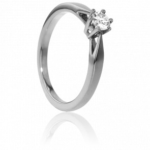 Bague Solitaire Venise Or Blanc & Diamant 0,23ct