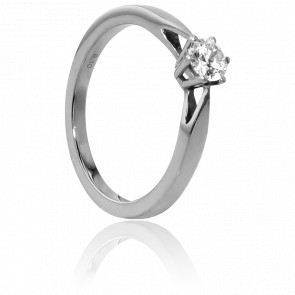 Bague Solitaire Venise Or Blanc & Diamant 0,30ct