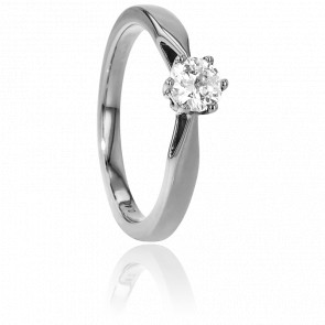 Bague Solitaire Venise Or Blanc & Diamant 0,40ct