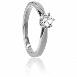 Bague Solitaire Venise Or Blanc & Diamant 0,45ct
