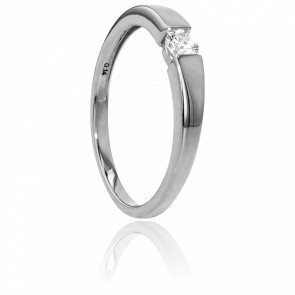 Bague Solitaire Capri Or Blanc & Diamant 0,14ct