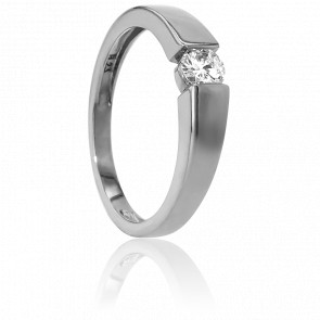 Bague Solitaire Capri Or Blanc & Diamant 0,23ct
