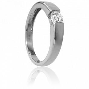 Bague Solitaire Capri Or Blanc & Diamant 0,30ct