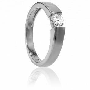 Bague Solitaire Capri Or Blanc & Diamant 0,35ct