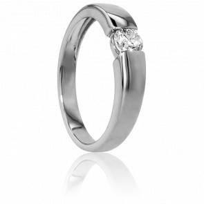 Bague Solitaire Capri Or Blanc & Diamant 0,40ct